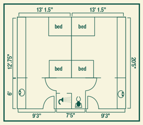 Sparks Hall room layout